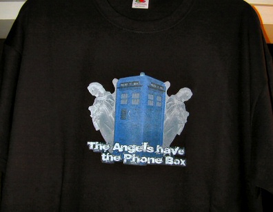 a picture of my The Angels Have The Phone Box T-shirt