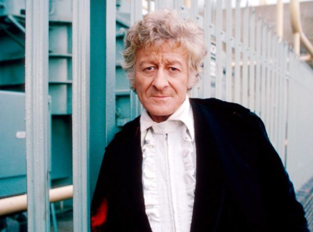 Actor Jon Pertwee as Doctor Who, in candid photograph